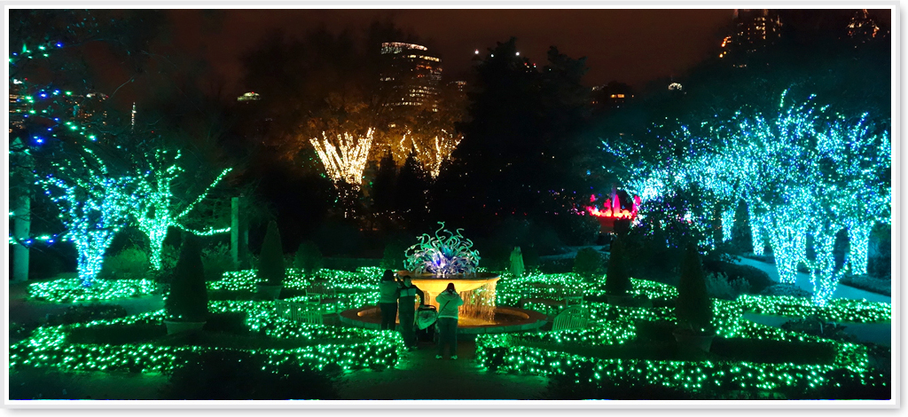 Atlanta Botanical Garden Holiday Lights Design